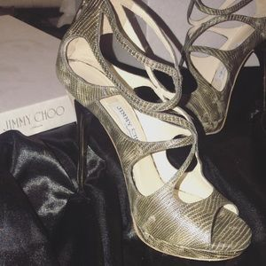 Jimmy Choo python sandal